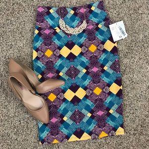 LuLaRoe Geometric Cassie Pencil Skirt